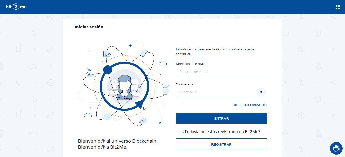 Registrando cuenta de usuario en Bit2Me