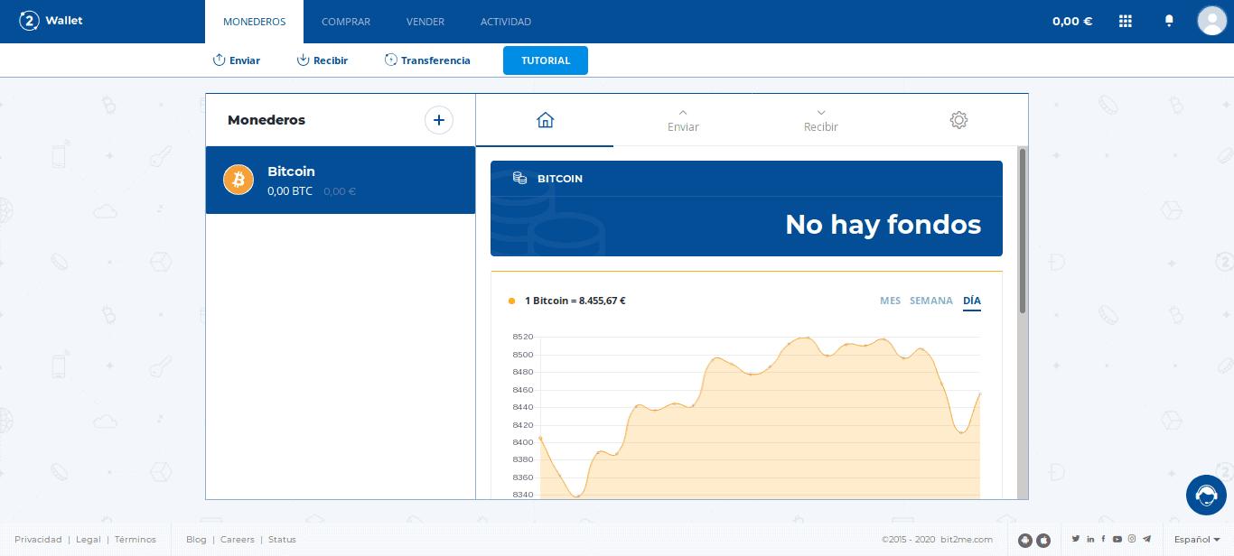 Monedero Bitcoin en Bit2Me