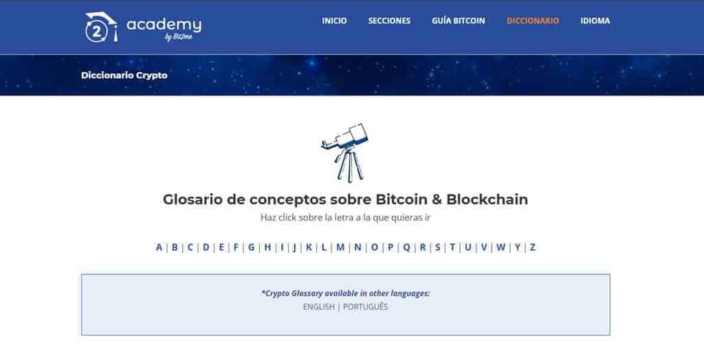 Diccionario bitcoin, glosario blockchain,