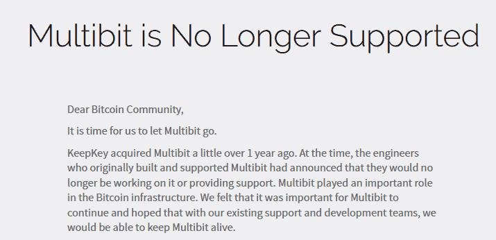 multibit fin de servicio