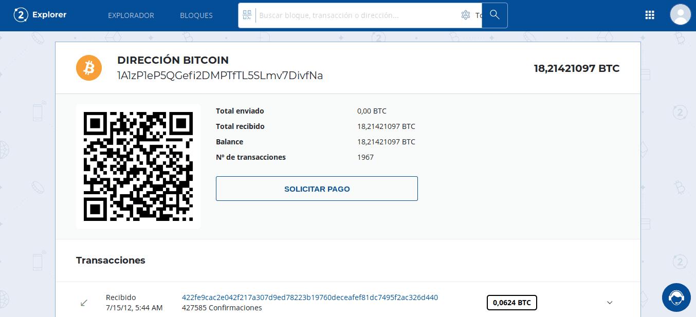 Verificando informações de um endereço BTC no navegador