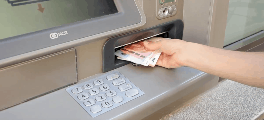 exchange for money at ATMs