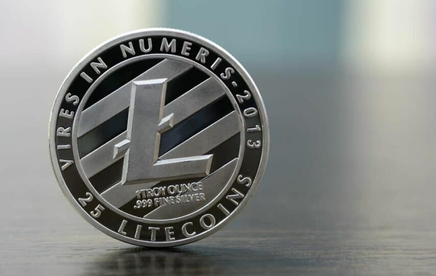 Representação de uma moeda Litecoin