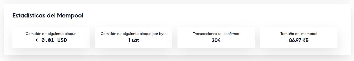 Uso de la mempool de Bitcoin Cash