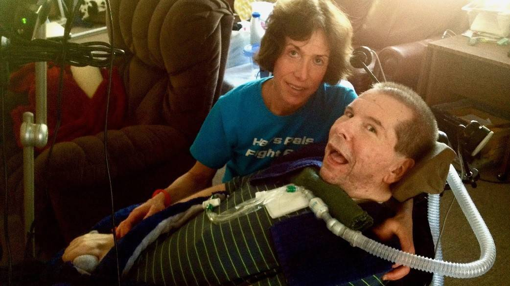 Hal Finney shortly before his death from ALS