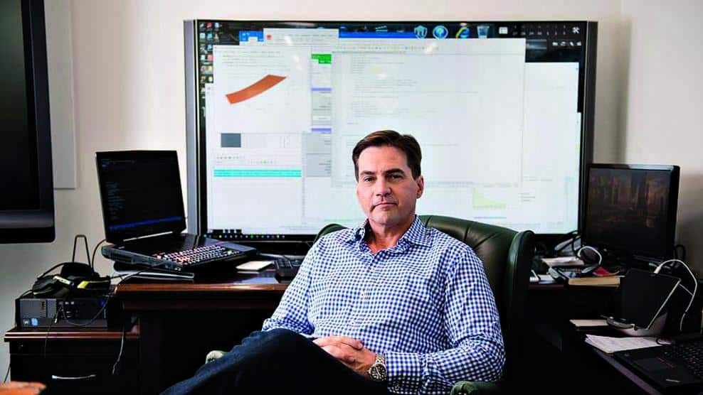 Craig S. Wright in his office