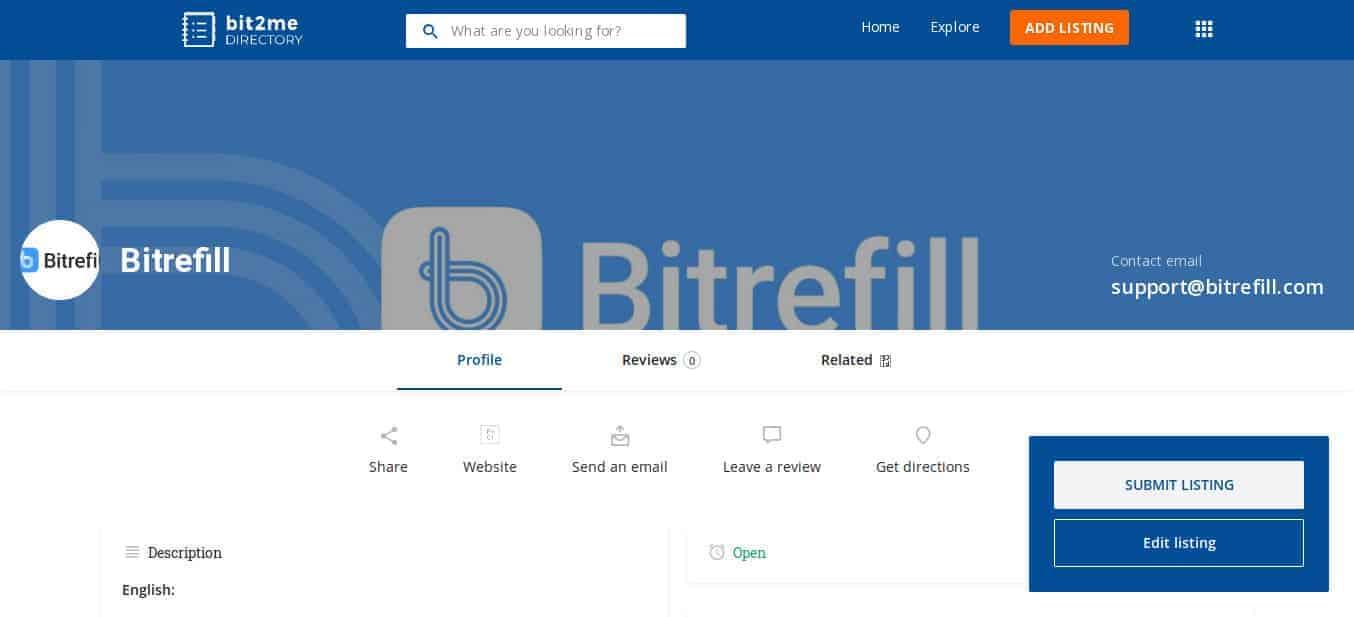 Bit2Me Directory mostrando una vista previa