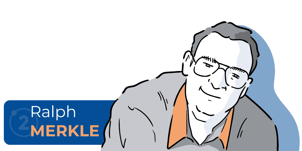 Who is Ralph Merkle, ralph merkle and bitcoin, who invented merkle trees, creator of merkle trees