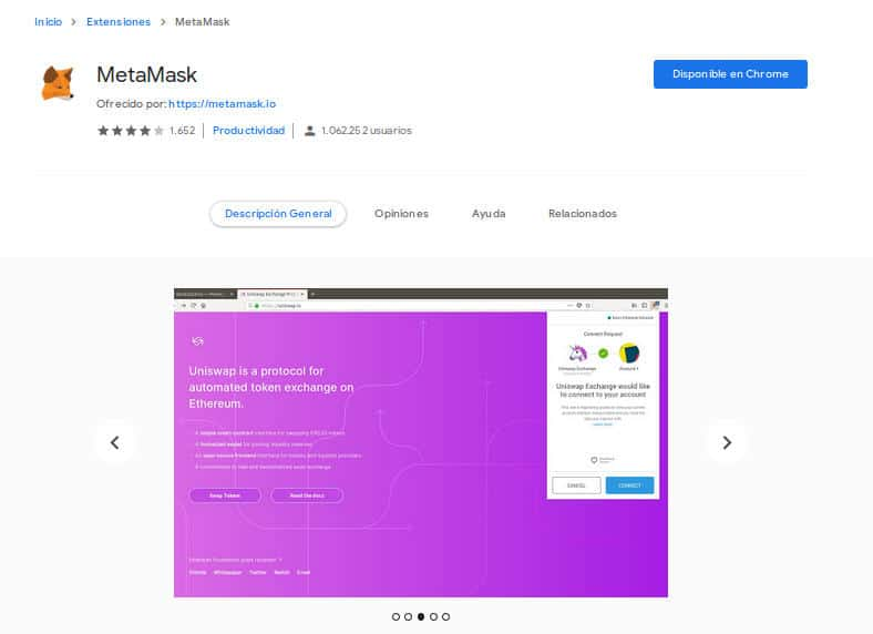 extensão de metamask do chrome