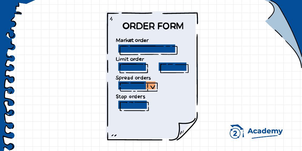 Formulario de órdenes (order form)