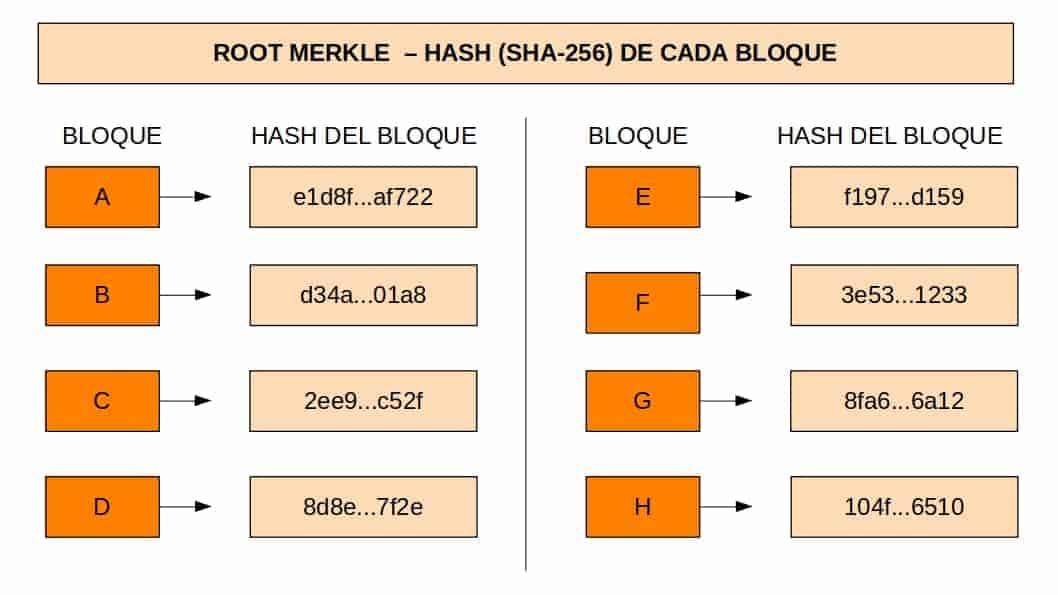 Segundo paso para calcular un root hash