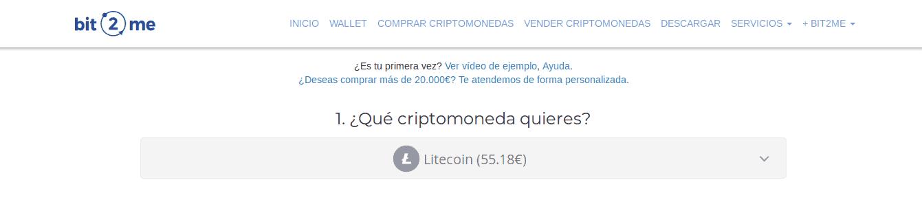 Comprando Litecoinen Bit2Me