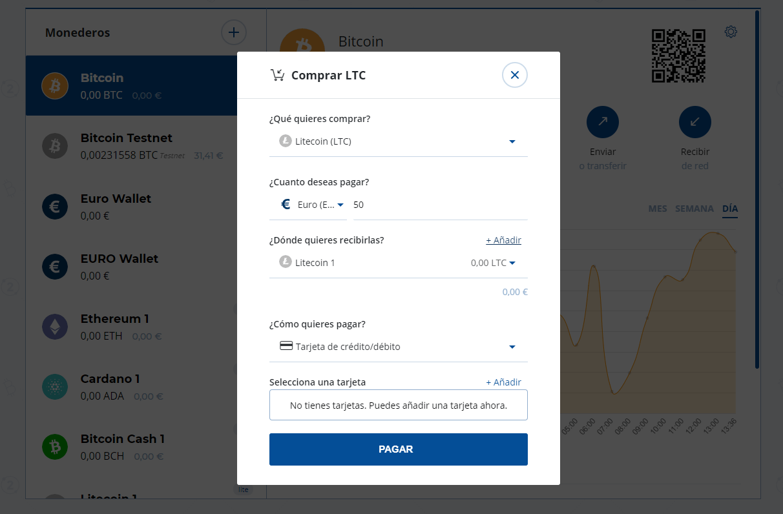 Finalizando la compra de Litecoin en Bit2Me