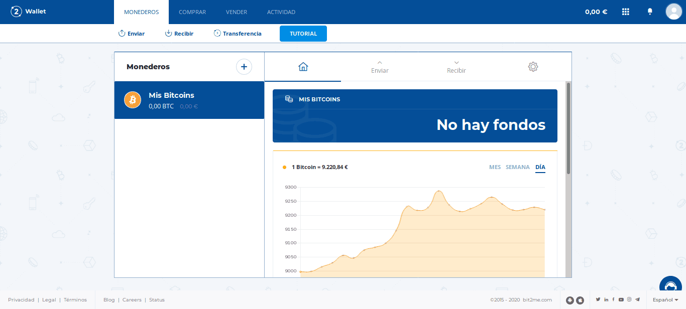 Monedero Bitcoin en Bit2Me Wallet