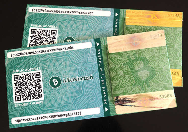 Paper wallet de Bitcoin Cash