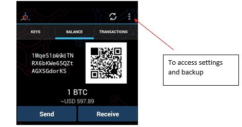 mycelium como utilizar la cartera bitcoins
