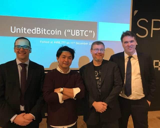 Jeff Garzik en una conferencia durante la presentación del fork UBTC
