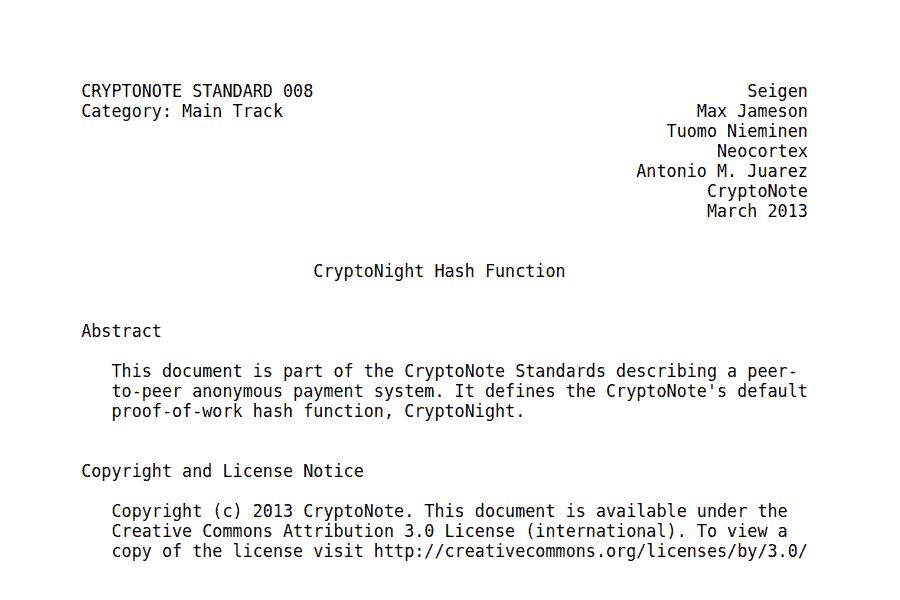 White paper CryptoNote a origem da CryptoNight