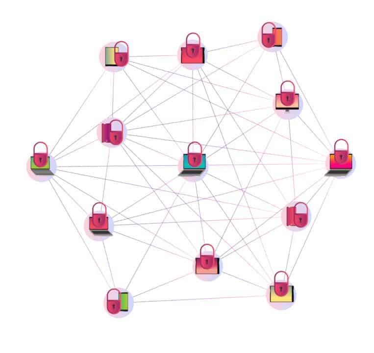 Node network in a P2P system