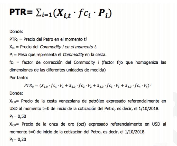 Formula del Petro