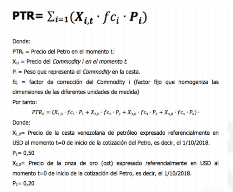 Petro's formula