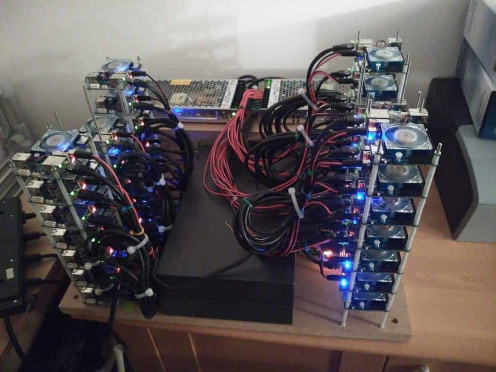 ODROID XU4 CPU mining rig